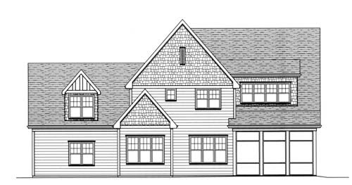 House Plan 53711 | European Tudor Style Plan with 3756 Sq Ft, 4 Bedrooms, 4 Bathrooms, 3 Car Garage Rear Elevation
