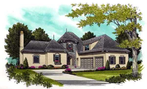 Country European House Plan 53712 Elevation