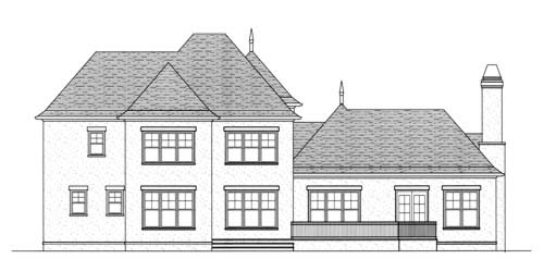 Country European House Plan 53712 Rear Elevation