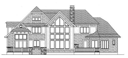 Craftsman House Plan 53714 Rear Elevation