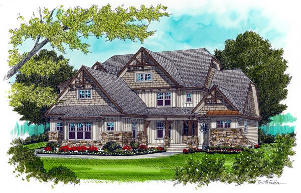 Craftsman House Plan 53715 Elevation