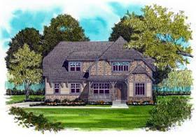 European , Craftsman House Plan 53717 with 4 Beds, 3 Baths, 3 Car Garage Elevation