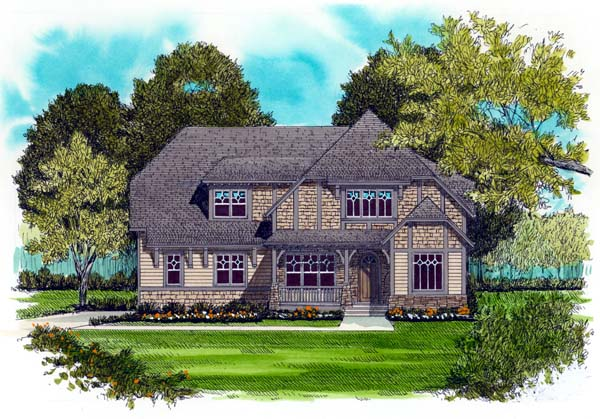Craftsman European House Plan 53717 Elevation