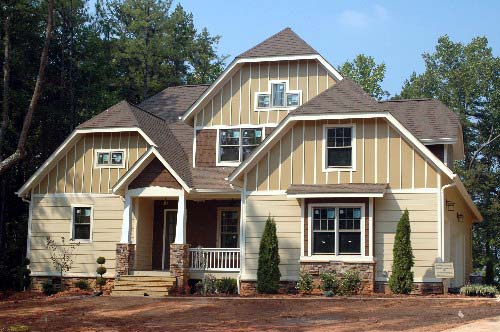 Craftsman House Plan 53718 with 4 Beds, 4 Baths, 2 Car Garage Picture 1