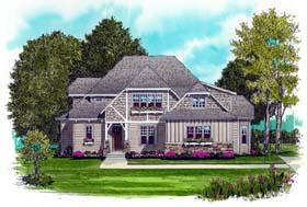 Craftsman European House Plan 53720 Elevation