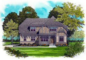 House Plan 53724 | Craftsman Style Plan with 2877 Sq Ft, 4 Bedrooms, 3 Bathrooms, 3 Car Garage Elevation