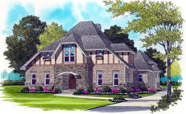 Craftsman Tudor House Plan 53725 Elevation