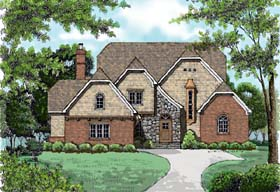 House Plan 53727 | Country European Style Plan with 3921 Sq Ft, 4 Bedrooms, 5 Bathrooms, 3 Car Garage Elevation