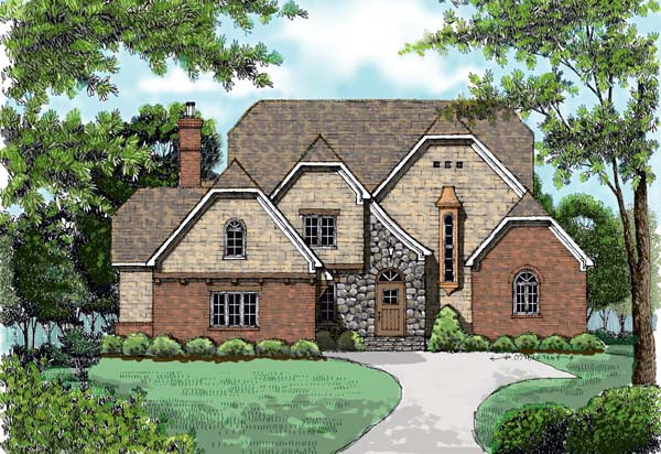 Country European House Plan 53727 Elevation