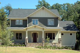 Bungalow Craftsman House Plan 53728 Elevation
