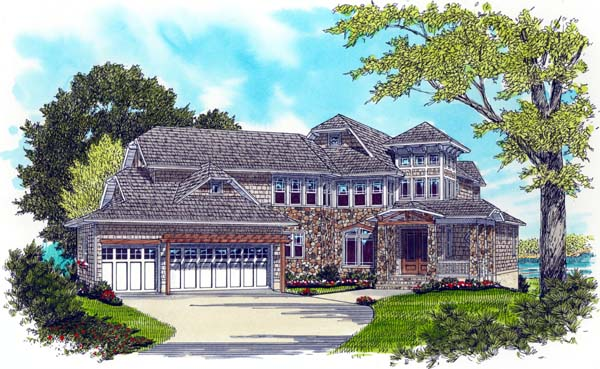Craftsman House Plan 53729 Elevation