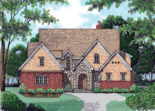 Country European House Plan 53731 Elevation