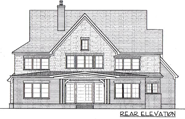 Country European House Plan 53731 Rear Elevation