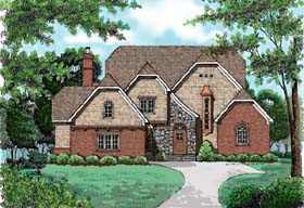 Country European House Plan 53735 Elevation