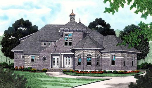European House Plan 53736 Elevation