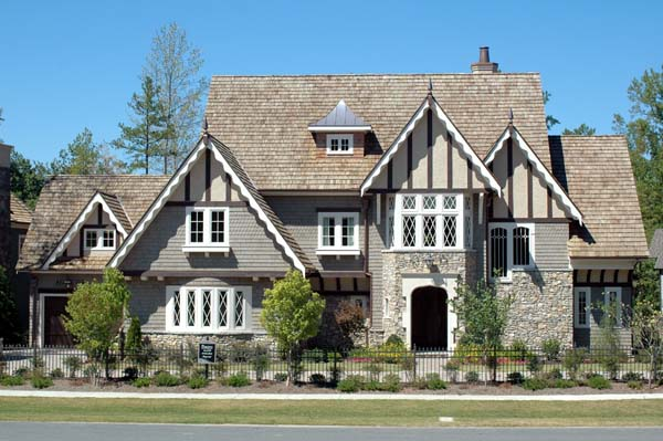 European, Tudor, Victorian House Plan 53743 with 4 Beds, 5 Baths, 3 Car Garage Picture 1