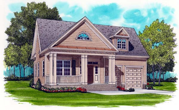 Colonial Farmhouse House Plan 53754 Elevation