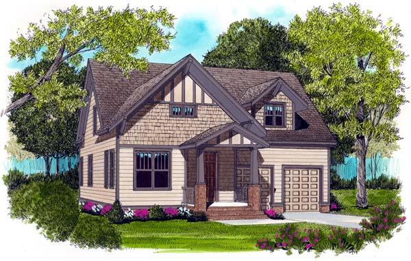 Craftsman House Plan 53760 with 3 Beds, 3 Baths, 2 Car Garage Elevation