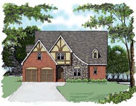 Country European Tudor House Plan 53765 Elevation
