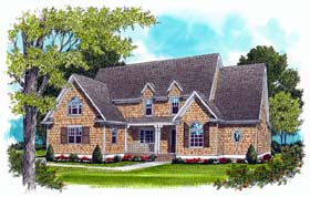 House Plan 53766 | Style Plan with 3682 Sq Ft, 4 Bedrooms, 5 Bathrooms, 3 Car Garage Elevation