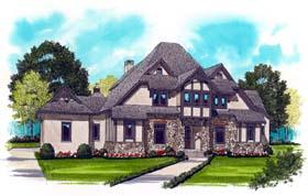Craftsman Tudor Tuscan House Plan 53773 Elevation