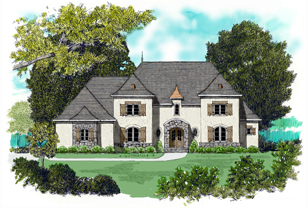 European House Plan 53774 Elevation