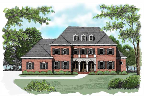 Colonial House Plan 53776 Elevation