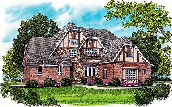 Country European Tudor House Plan 53779 Elevation