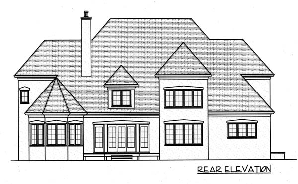 Country House Plan 53780 Rear Elevation