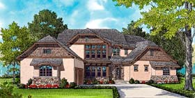 European , Craftsman House Plan 53782 with 4 Beds, 4 Baths, 3 Car Garage Elevation
