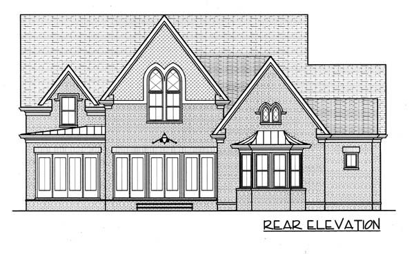 Farmhouse House Plan 53783 Rear Elevation