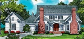 Colonial European House Plan 53784 Elevation