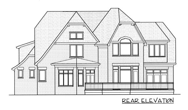 Country European Tudor House Plan 53785 Rear Elevation
