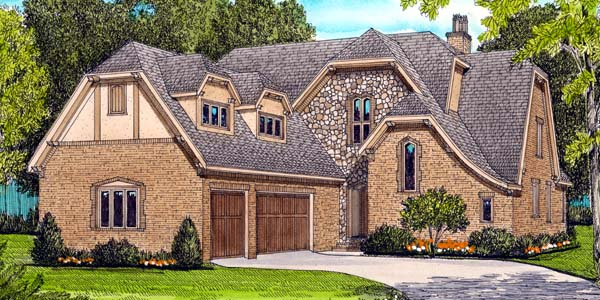 House plan 53786 at for French tudor house plans