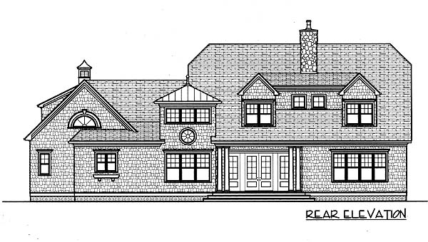 Cape Cod Coastal House Plan 53787 Rear Elevation