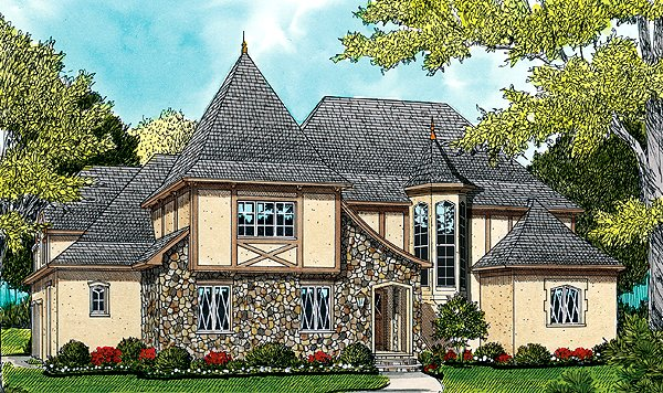European French Country Tudor House Plan 53788 Elevation