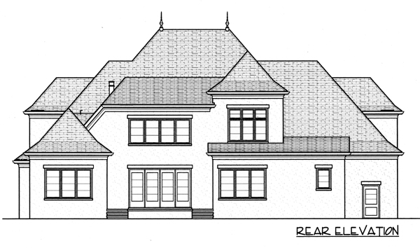 Country European House Plan 53789 Rear Elevation