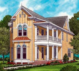 Farmhouse Traditional Victorian House Plan 53796 Elevation