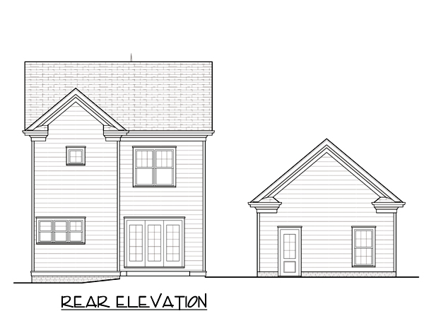 Farmhouse Traditional Victorian House Plan 53796 Rear Elevation