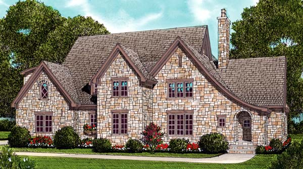 Country European House Plan 53798 Elevation