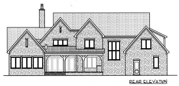 Country European House Plan 53798 Rear Elevation