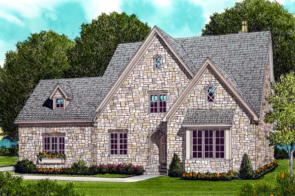 Country European House Plan 53799 Elevation