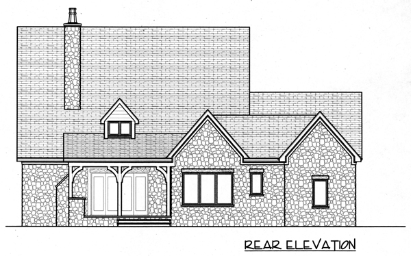 Country European House Plan 53799 Rear Elevation