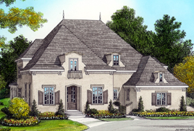 House Plan 53801 | Country Style Plan with 3798 Sq Ft, 4 Bedrooms, 5 Bathrooms, 3 Car Garage Elevation