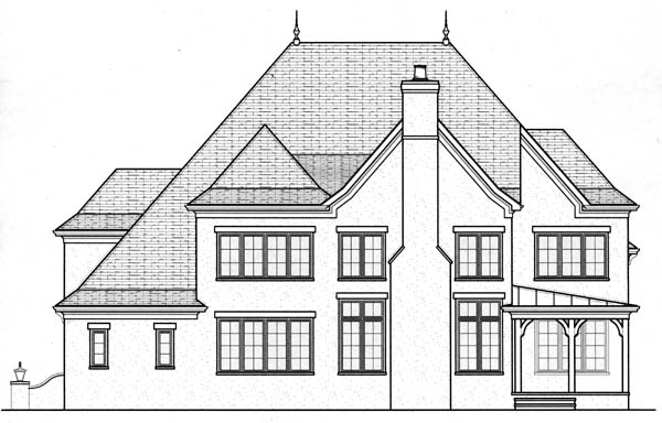 Country House Plan 53801 Rear Elevation