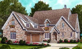 Country European House Plan 53802 Elevation