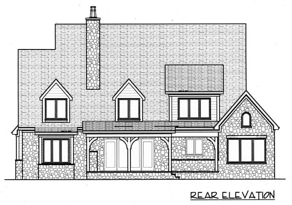 Country European House Plan 53802 Rear Elevation