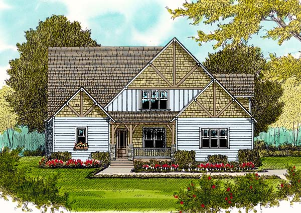 Craftsman House Plan 53804 Elevation