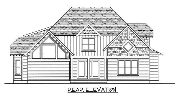 Craftsman House Plan 53806 Rear Elevation