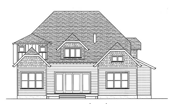 Craftsman House Plan 53807 Rear Elevation